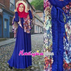 baju pesta wanita modern Pusat-Gamis-terbaru-ALFIRA-by-Nasywannisa-biru-keunguan