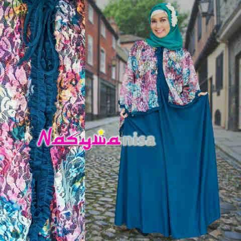 Alfira By Nasywannisa Tosca Baju Muslim Gamis Modern