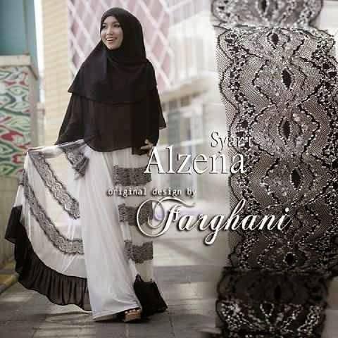 Alzena By Farghani Putih Baju Muslim Gamis Modern