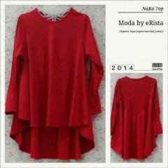 model baju pesta muslim elegan Pusat-Gamis-terbaru-Nara-Moda-Erista-Merah