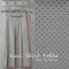 baju pesta muslim wanita Pusat-Gamis-terbaru-Vinci Skirt Polka-Coksu