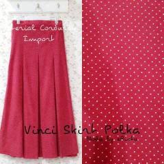 baju pesta pengantin Pusat-Gamis-terbaru-Vinci Skirt Polka-Merah