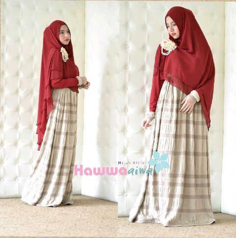 Al Raana Mocca Baju Muslim Gamis Modern