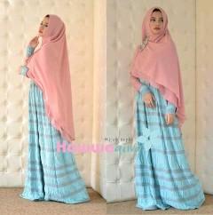 model gaun pesta hijab Pusat-gamis-terbaru-Al-Raana-By-Hawwa-Aiwa-Soft-Blue