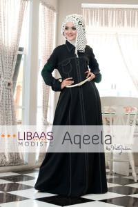 Baju Muslim Wanita Aqeela by Libassmodiste Black
