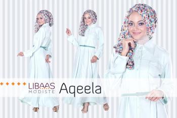 Baju Muslim Wanita Aqeela by Libassmodiste Blue Mint