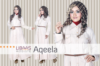 Baju Muslim Wanita Aqeela by Libassmodiste Cream