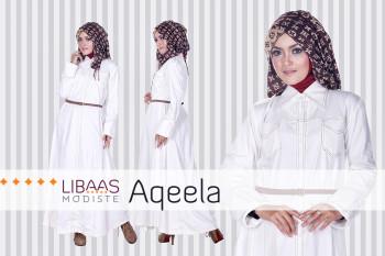 Baju Muslim Wanita Aqeela by Libassmodiste White