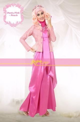 Grosir Baju Muslim Rajna 18 Dusty Pink - Peach