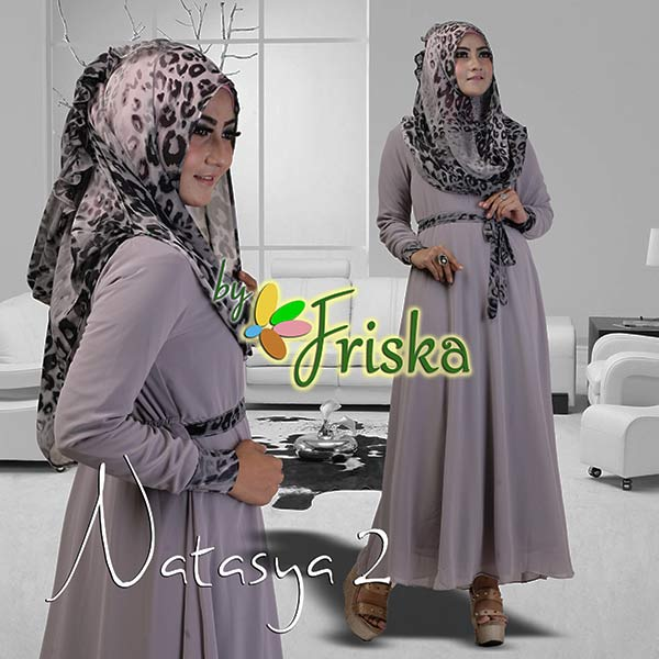Natasya 2 By Friska Abu Abu Baju Muslim Gamis Modern