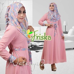 Grosir Busana Muslim Pesta Terbaru Pusat Gamis Terbaru Natasya by Friska Dusty Pink