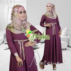 Grosir Busana Muslim Pesta Terbaru Pusat Gamis Terbaru Natasya by Friska Purple