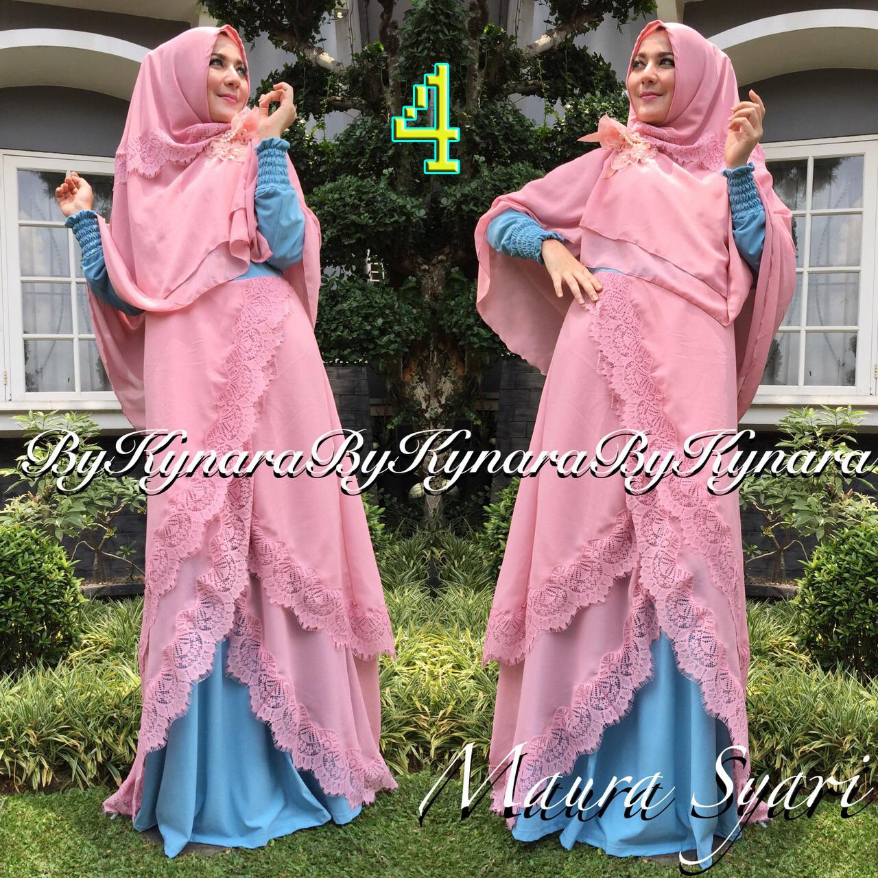 Maura Syar I By Kynara 4 Baju Muslim Gamis Modern