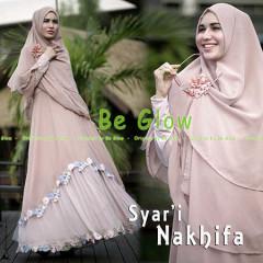 Grosir Busana Muslim Terbaru Nakhifa by Be Glow Pink Susu