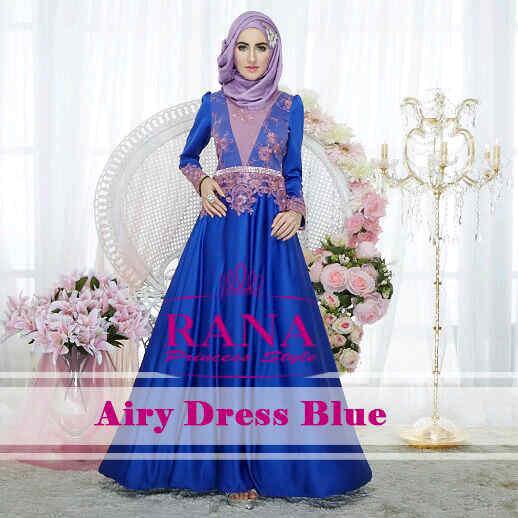 Pusat Gamis Terbaru Airy Dress by Rana Blue