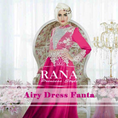 Pusat Gamis Terbaru Airy Dress by Rana Fanta