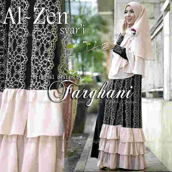 Al Zen By Farghani Black Baju Muslim Gamis Modern