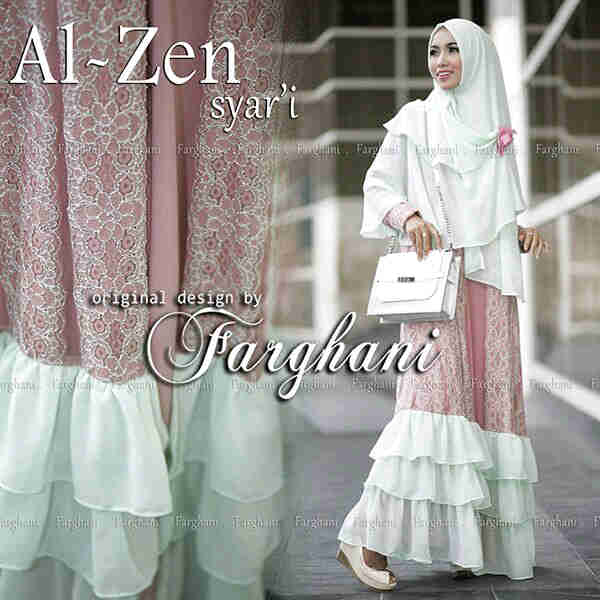 Al Zen By Farghani Dp Bw Baju Muslim Gamis Modern
