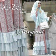 Pusat Gamis Terbaru Al Zen by Farghani Dusty Pink - Soft Blue