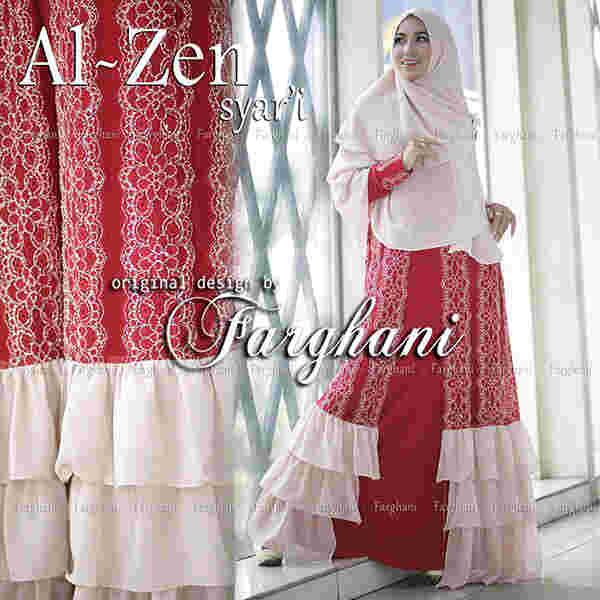 Al Zen By Farghani Red Baju Muslim Gamis Modern