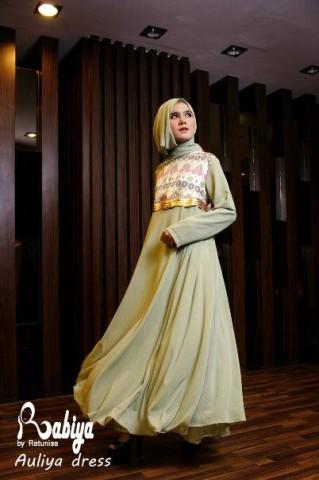 Pusat Gamis Terbaru Aulia Dress by Rabiya Hijau