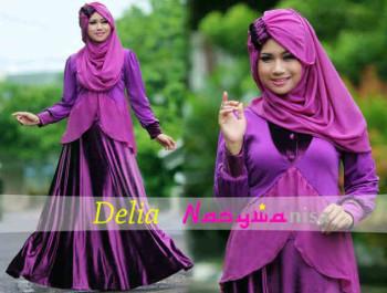 Pusat Gamis Terbaru Delia by Naswanisa Magenta