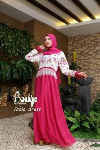 Pusat Gamis Terbaru Fazia Dress by Rabiya Fanta
