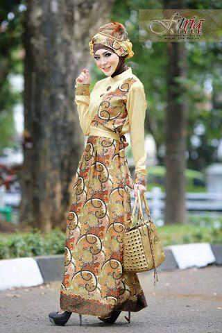 Ghamira By Fitria Style Gold Baju Muslim Gamis Modern