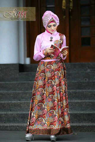 Ghamira By Fitria Style Pink Baju Muslim Gamis Modern