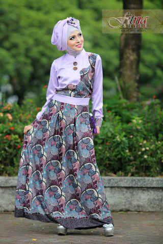Ghamira By Fitria Style Ungu M Baju Muslim Gamis Modern