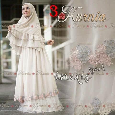 Inexis Syari By Kurnia 3 Baju Muslim Gamis Modern
