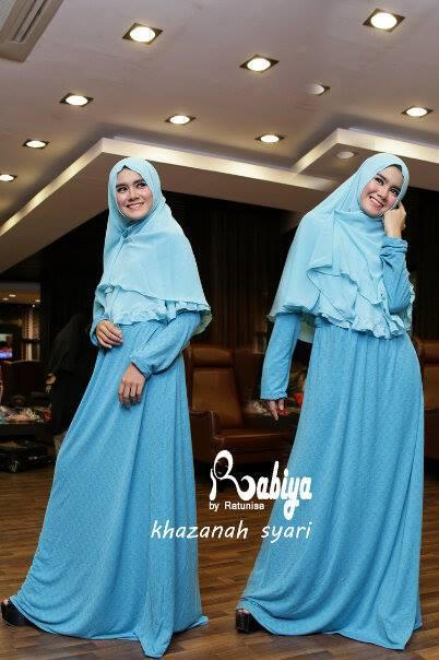 Khazanah Syar I Blue Baju Muslim Gamis Modern