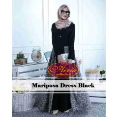 Pusat Gamis Terbaru Mariosa Dress by Airia Black