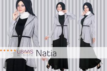 Pusat Gamis Terbaru Natia Dress by Libaasmodisty Black
