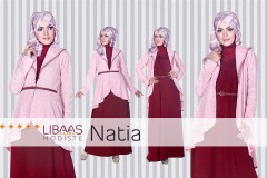Pusat Gamis Terbaru Natia Dress by Libaasmodisty Maroon
