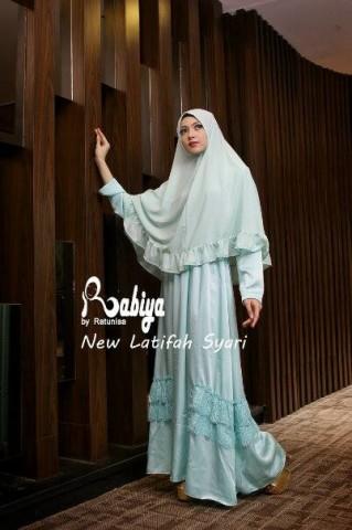 Pusat Gamis Terbaru New Latifah Syari by Rabiya Mint