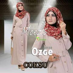 Pusat Gamis Terbaru Ozge Dress Moez 5 by Friska Coklat Susu