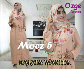 Pusat Gamis Terbaru Ozge Dress Moez 5 by Friska Darma Wanita