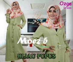 Pusat Gamis Terbaru Ozge Dress Moez 5 by Friska Hijau Pupus