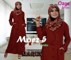 Pusat Gamis Terbaru Ozge Dress Moez 5 by Friska Maroon