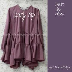 Pusat Gamis Terbaru Sally Top by Moda Dusty Purple