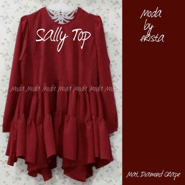 Pusat Gamis Terbaru Sally Top by Moda Merah