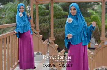 Pusat Gamis Terbaru Syarofa by Fakhriya Tisca - Violet