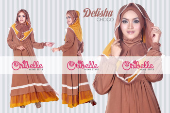 Pusat Grosir Busana Muslim Delisha by Oribelle Chocolate