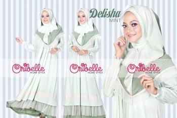 Pusat Grosir Busana Muslim Delisha by Oribelle Mint
