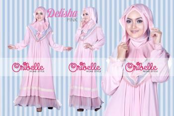 Pusat Grosir Busana Muslim Delisha by Oribelle Pink