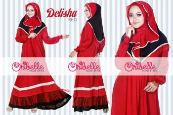 Pusat Grosir Busana Muslim Delisha by Oribelle Red