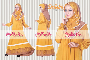 Pusat Grosir Busana Muslim Delisha by Oribelle Yellow