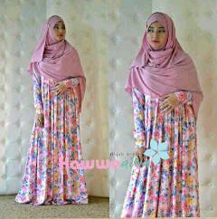 Pusat Grosir Busana Muslim Roses Syar'i vol.2 by HawwaAiwa Dusty Pink