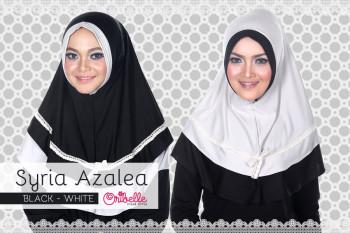 Pusat grosir Jilbab Syiri Azalea by Oribelle Black-White